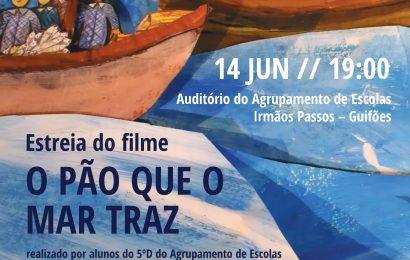 """Filme  """"O pão que o mar traz""""- 14 junho, 19 horas no Auditório do Agrupamento"""