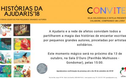 HISTÓRIAS DA AJUDARIS'18 – CONVITE