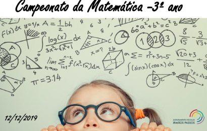 Campeonato da Matemática – 3º ano